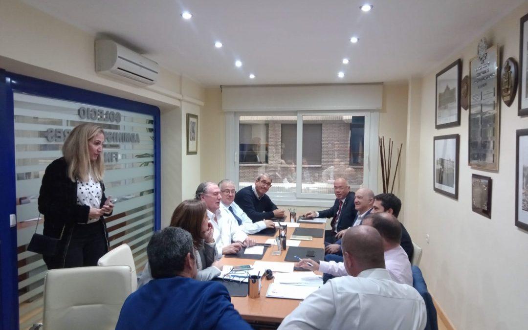 Reunión de la Junta de Gobierno del Colegio.