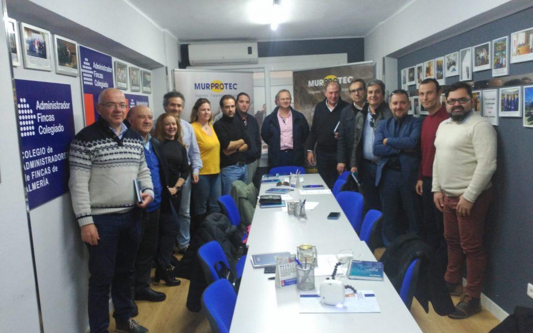 Jornada técnica de MURPROTEC en el Colegio de Administradores de fincas de Almería