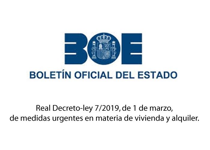 """""""SEMINARIO SOBRE R.D. Ley 7/2019, DE 1 DE MARZO, DE MEDIDAS URGENTES EN MATERIA DE VIVIENDA. PISOS TURISTICOS""""."""