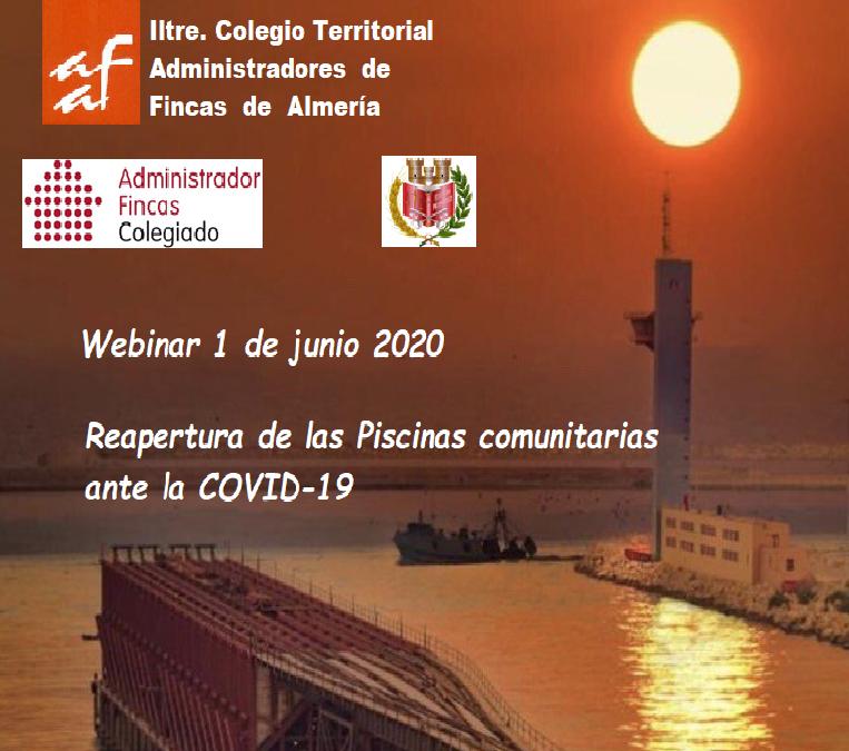 El CAF Almería organiza Webinar sobre la Reapertura de las Piscinas Comunitarias